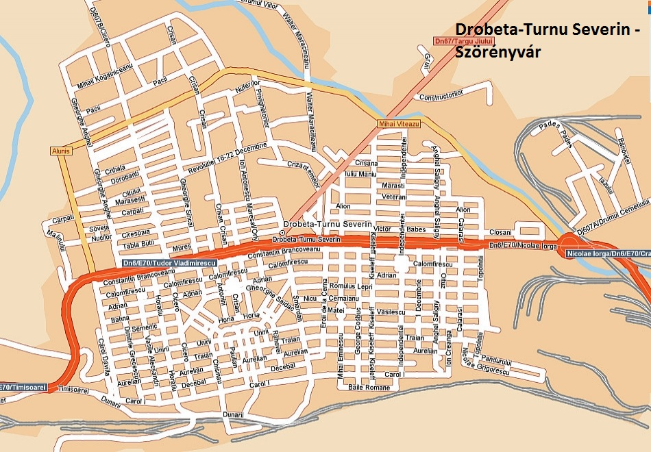 Szörényvár turisztikai térképe - szállás