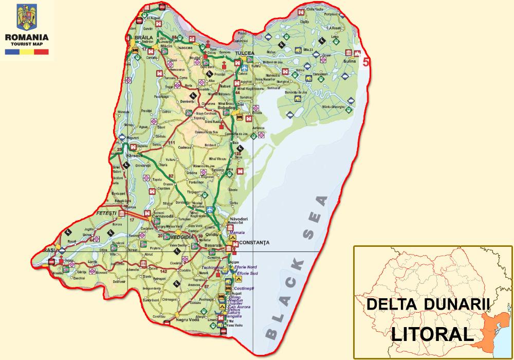 Román Tengerpartturisztikai térképe - szállás