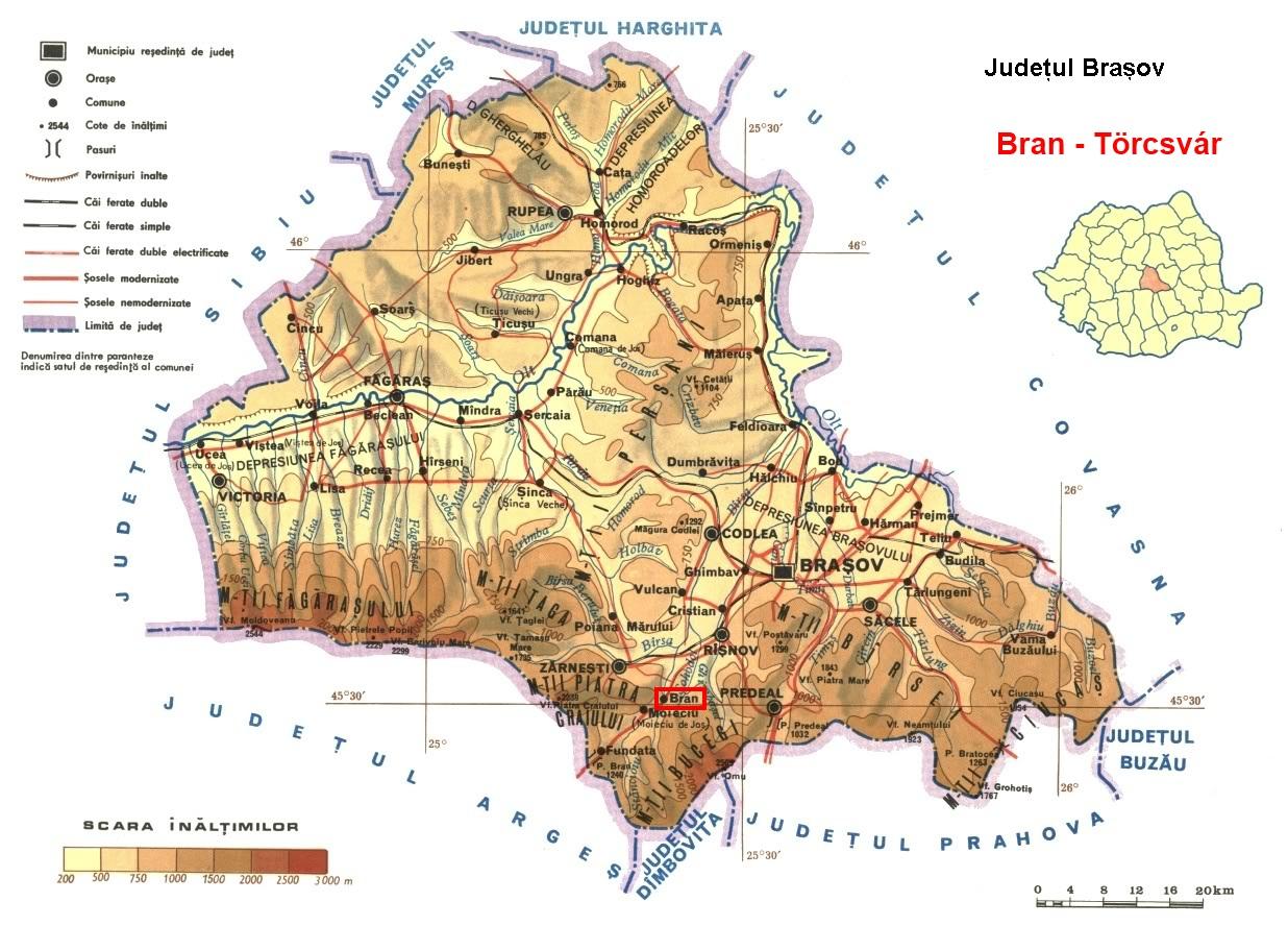 Törcsvár turisztikai térképe - szállás