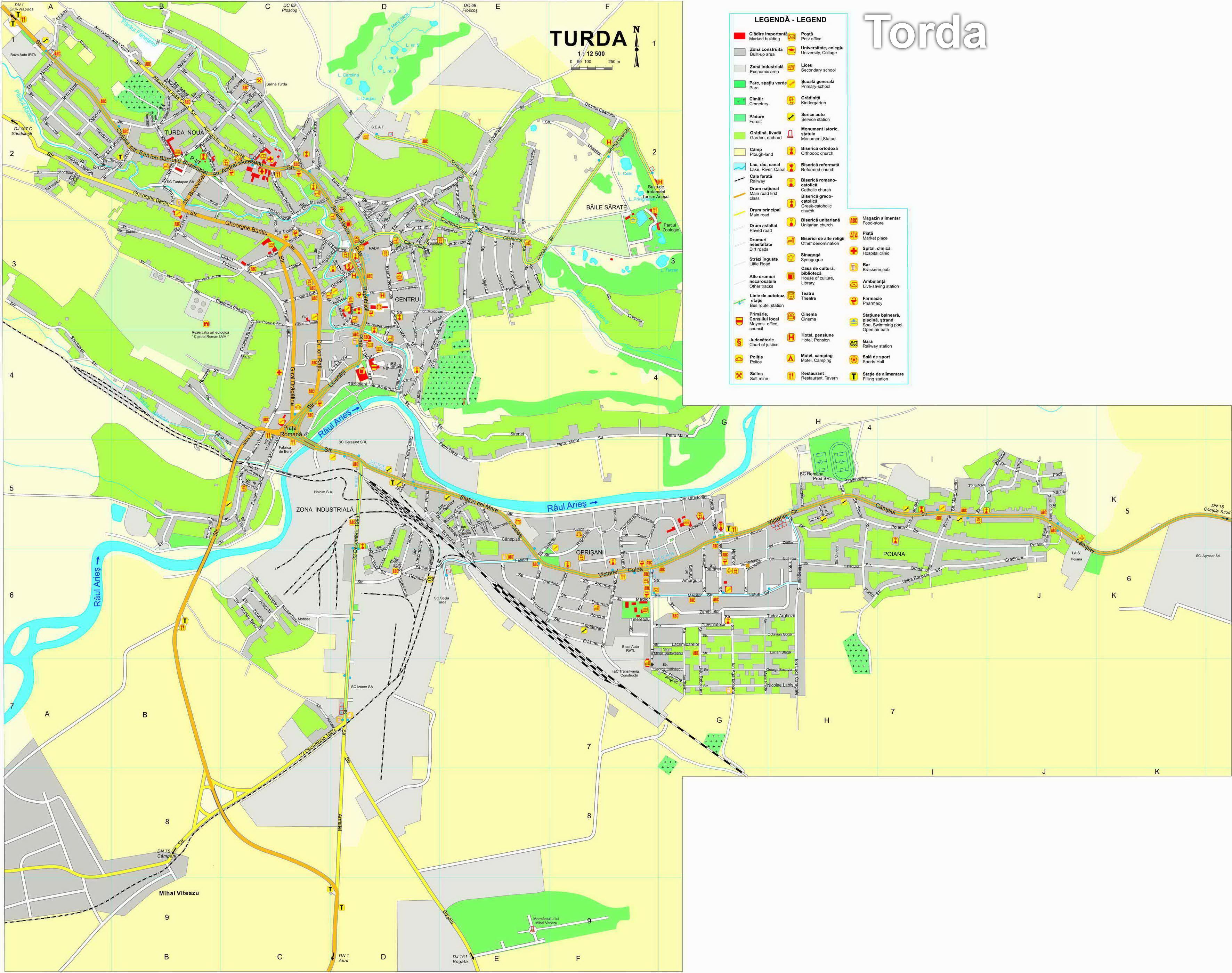 Torda turisztikai térképe - szállás