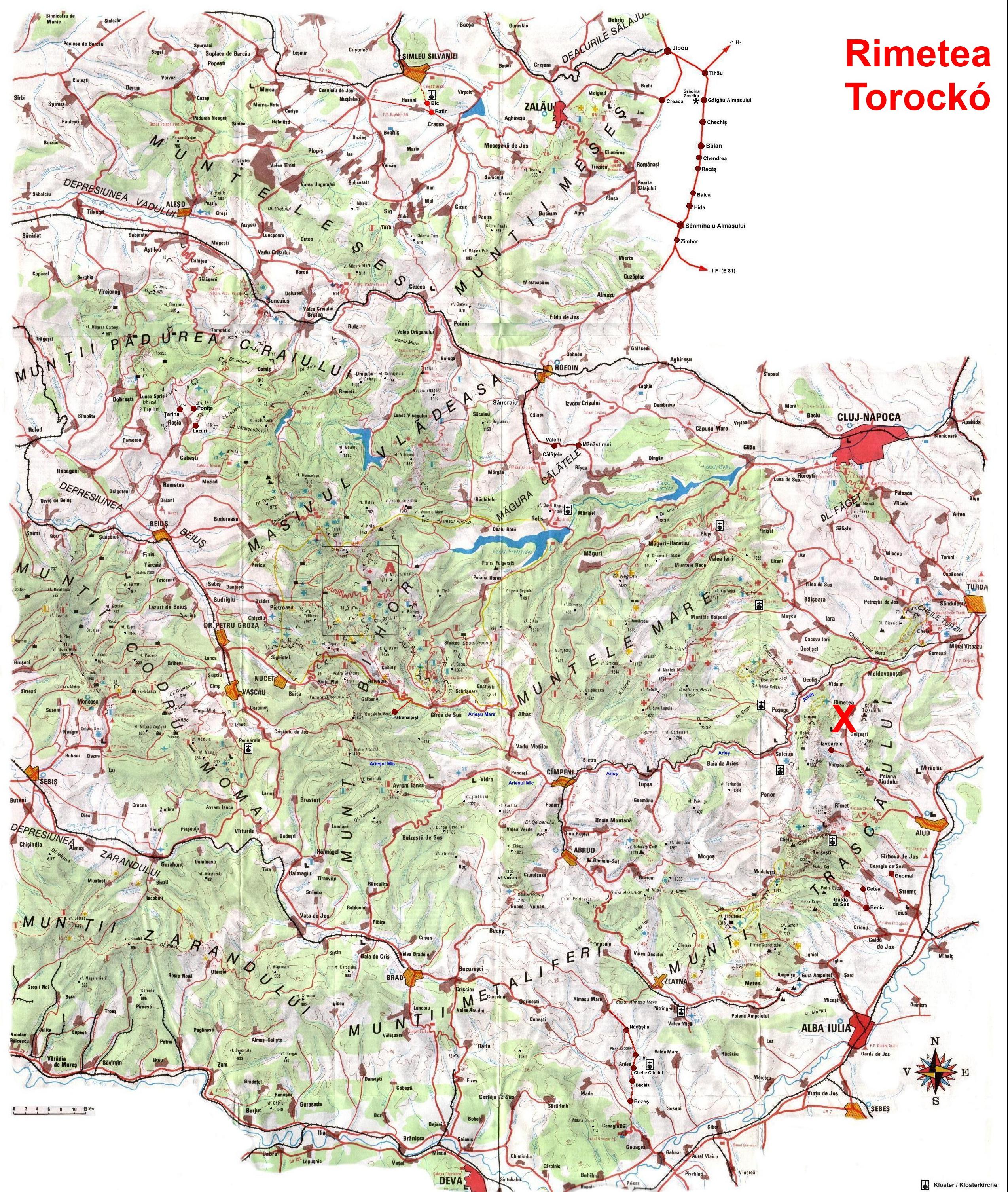torockó térkép TOROCKÓ szállás Torockó Szállásfoglalás Telefon, Online torockói  torockó térkép