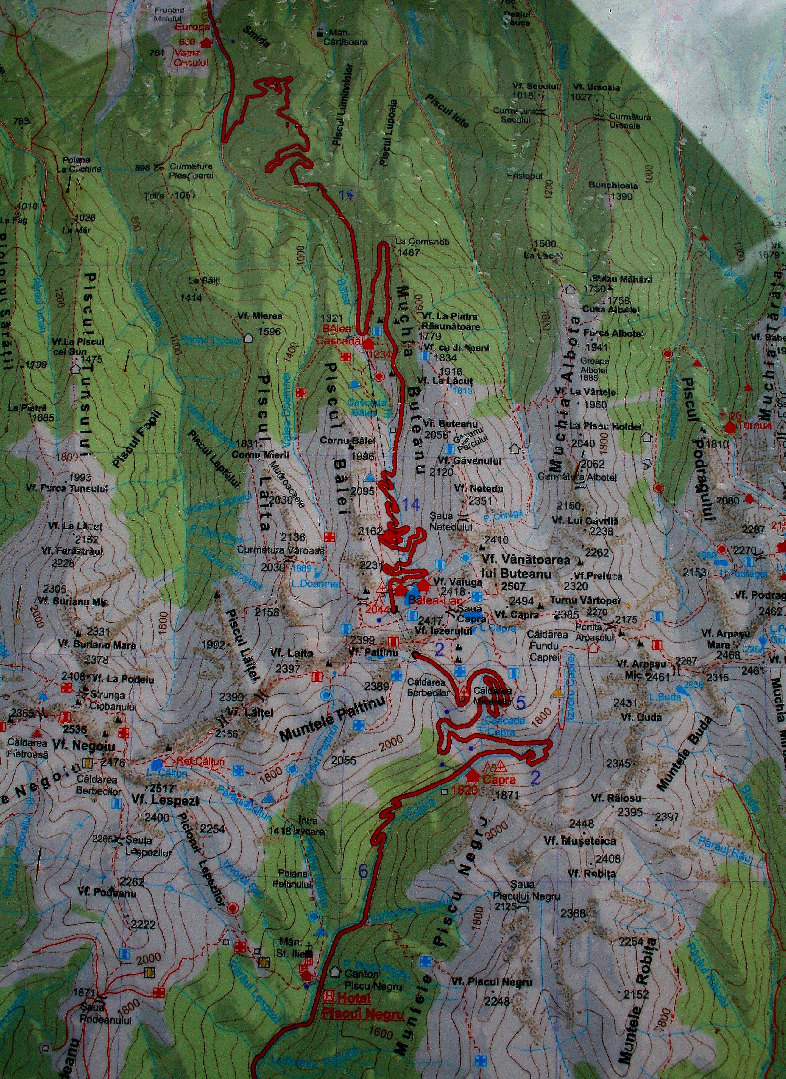 Transzfogaras turisztikai térképe - szállás