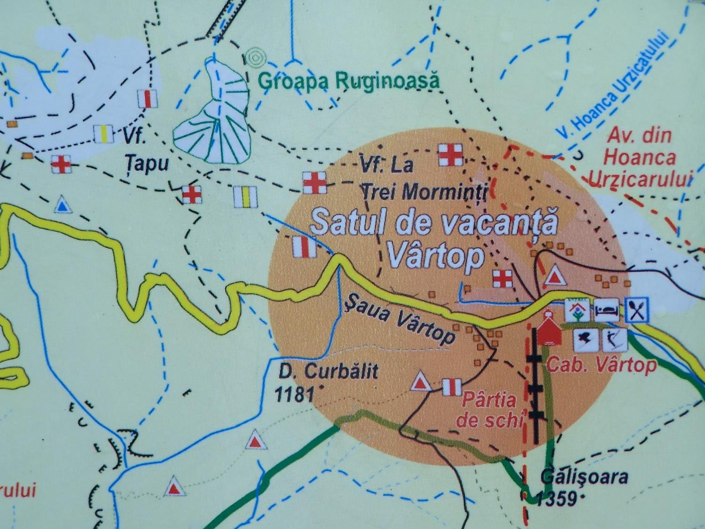 Vartop turisztikai térképe - szállás