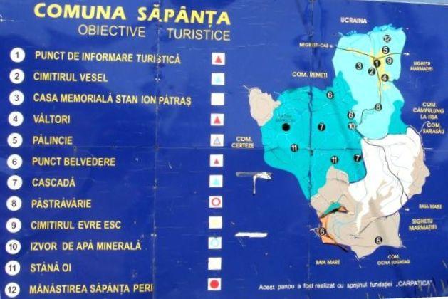 Szaploncai Vidám Temető turisztikai térképe - szállás